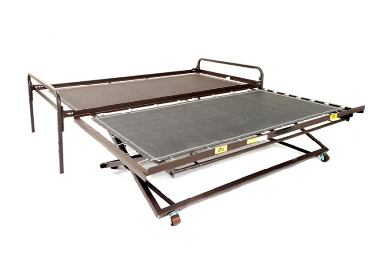 Now Steel Bed Frames Poly Deck High Riser Amp Trundle Twin